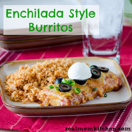 Enchilada Style Burritos | realmomkitchen.com
