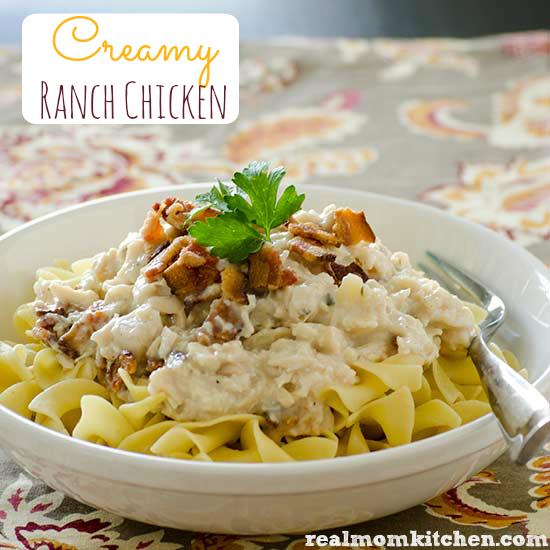 Creamy Ranch Chicken   realmomkitchen.com