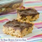 No Bake Banana Crunch Bars | realmomkitchen.com