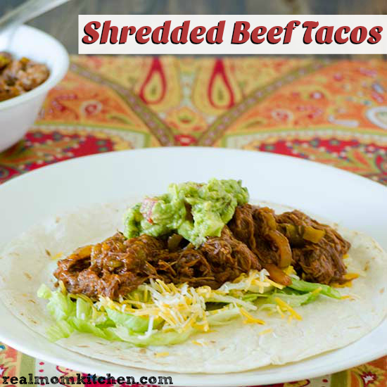Shredded Beef Tacos | realmomkitchen.com