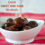Quick Sweet and Sour Meatballs | realmomkitchen.com