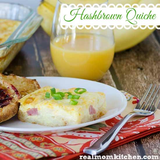 Hashbrown Quiche   realmomkitchen.com