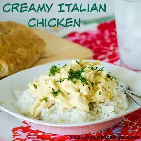 Creamy Italian Chicken | realmomkitchen.com