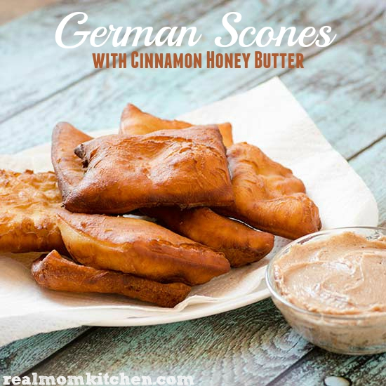German Scones with Cinnamon Honey Butter | realmomkitchen.com