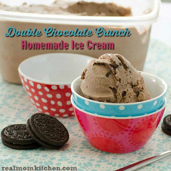 Double Chocolate Crunch Homemade Ice Cream   realmomkitchen.com