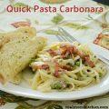 Quick Pasta Carbonara   realmomkitchen.com