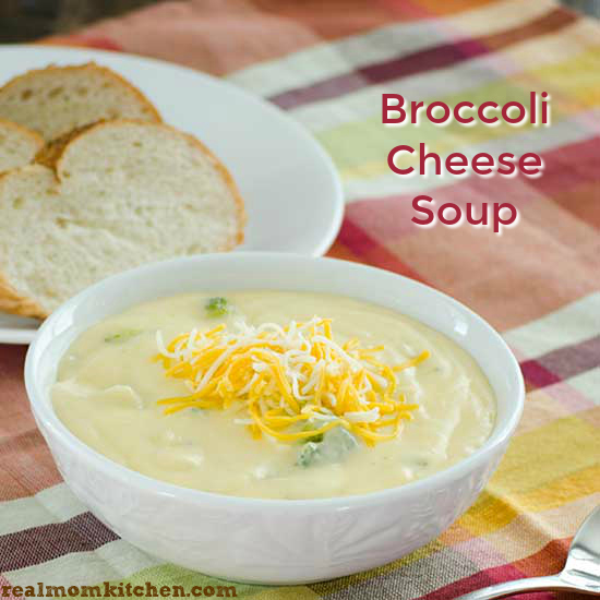 Broccoli Cheese Soup | realmomkitchen.com
