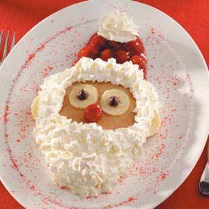 santa pancake idea