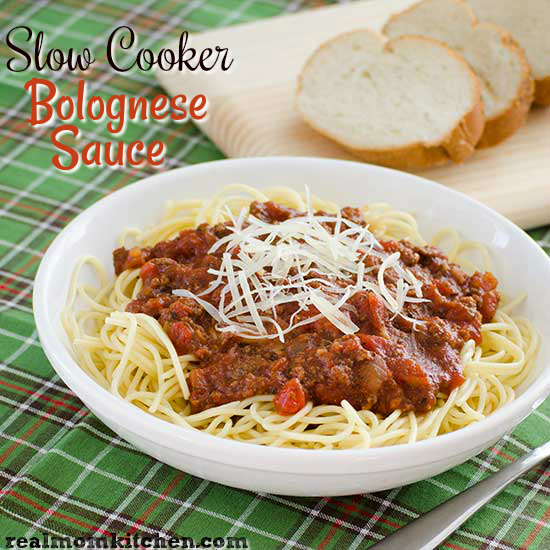 Slow Cooker Bolognese Sauce | realmomkitchen.com