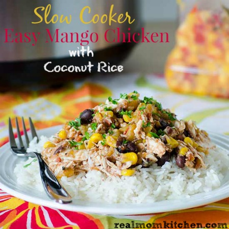 Slow Cooker Easy Mango Chicken   realmomkitchen.com