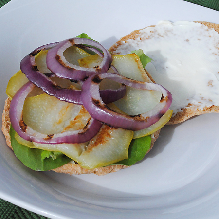 Cheese and Pear Sandwich with Red Onions and Rosemary plus a bonus egg salad recipe and giveaway