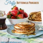 Fluffy Buttermilk Pancakes | realmomkitchen.com