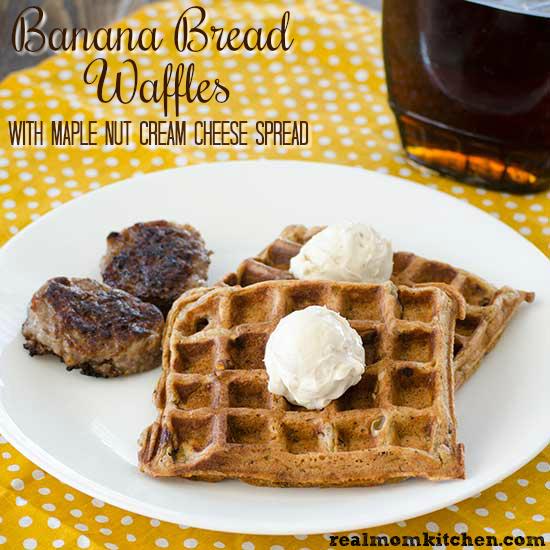 Banana Bread Waffles | realmomkitchen.com