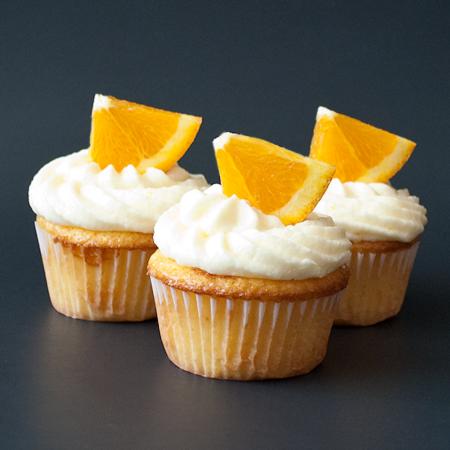 Fresh Orange Cupcakes with Orange Buttercream Frosting
