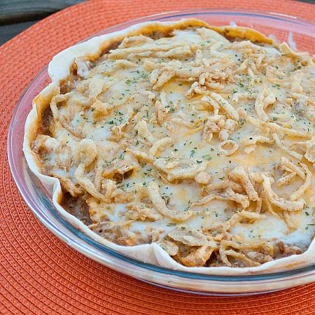 Microwave Chicken Tortilla Pie