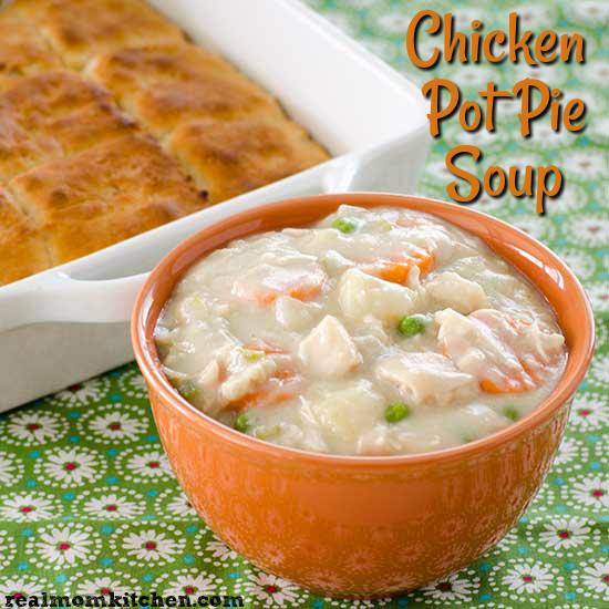 Chicken Pot Pie Soup | realmomkitchen.com