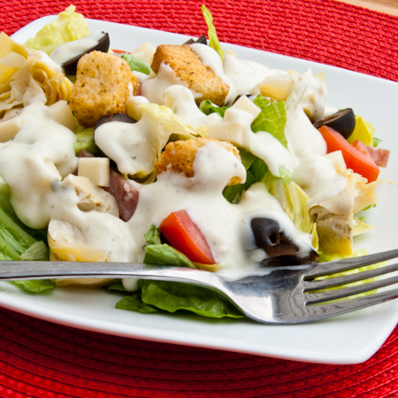 Creamy Pesto Salad Dressing