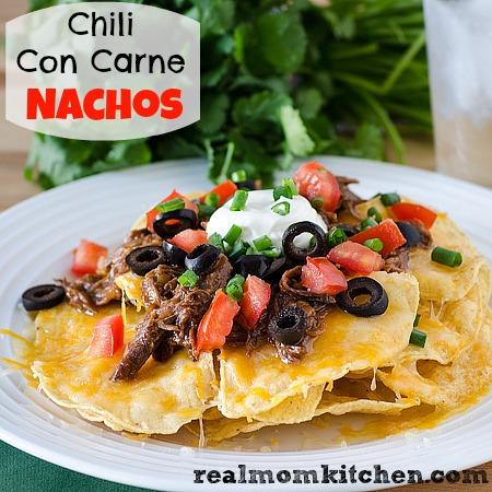 Chili Con Carne Nachos {Slow Cooker}