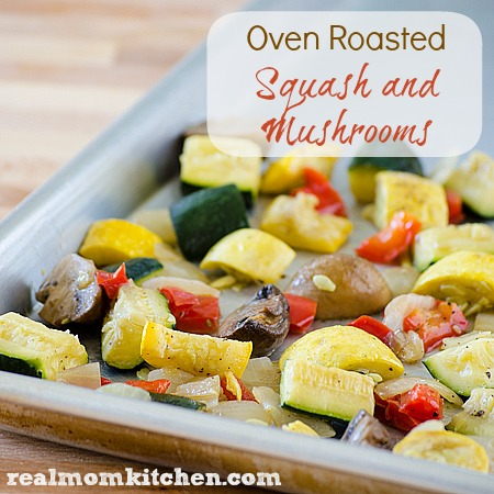 Oven Roasted Squash and Mushrooms