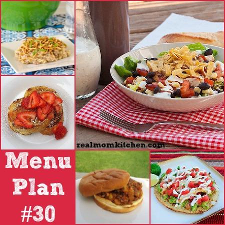 Menu Plan Monday – Week 30