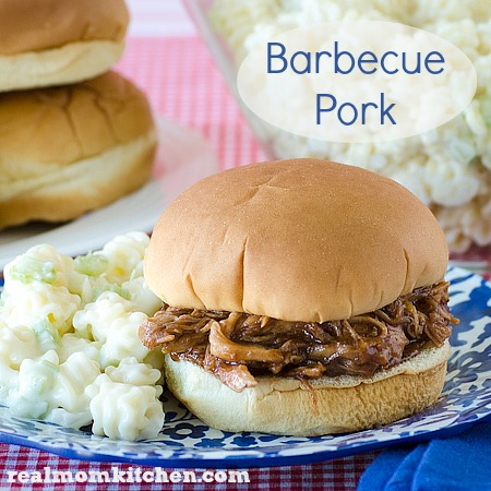 Barbecue Pork   realmomkitchen.com Only 3 ingredients!