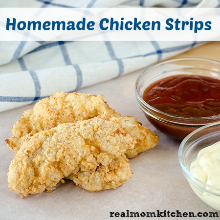 Homemade Chicken Strips l realmomkitchen.com
