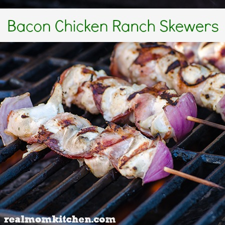 Bacon Chicken Ranch Skewers   realmomkitchen.com