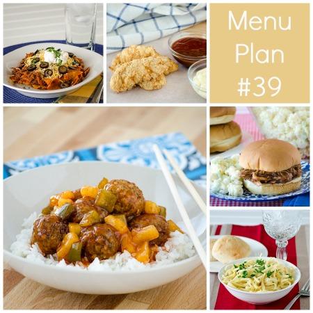 Menu Plan Monday – Week 39