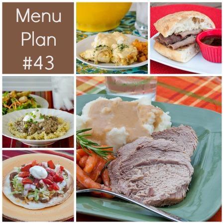 Menu Plan Monday – Week 43