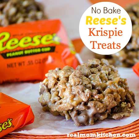 No Bake Reese's Krispie Treats