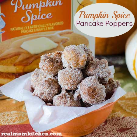 Pumpkin spice pancake poppers real mom kitchen pumpkin spice pancake poppers labeled ccuart Images