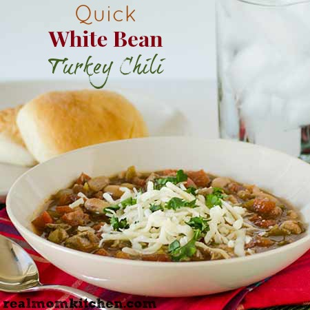 Quick White Bean Turkey Chili labeled