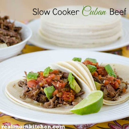 Slow Cooker Cuban Beef | realmomkitchen.com