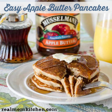 Easy Apple Butter Pancakes | realmomkitchen.com