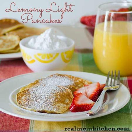 Lemony Light Pancakes   realmomkitchen.com