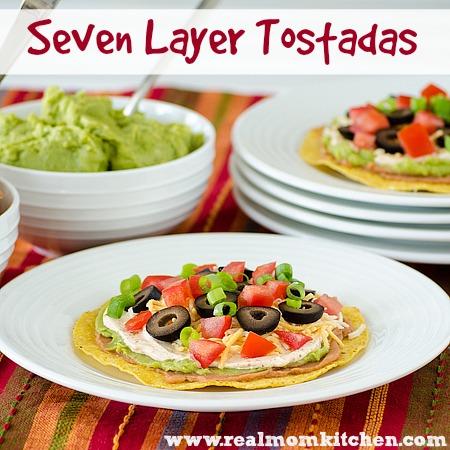 Seven Layer Tostadas | realmomkitchen.com