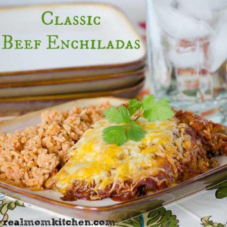Classic Beef Enchiladas | realmomkitchen.com