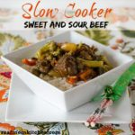 Slow Cooker Sweet and Sour Beef | realmomkitchen.com