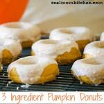 3 Ingredient Pumpkin Donuts | realmomkitchen.com