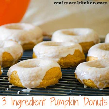 3 Ingredient Pumpkin Donuts   realmomkitchen.com