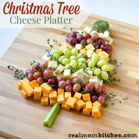 Christmas Tree Cheese Platter labeled & Christmas Tree Cheese Platter | Real Mom Kitchen