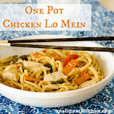 One Pot Chicken Lo Mein labeled