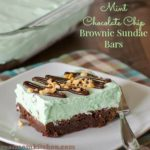 Mint Chocolate Chip Brownie Sundae Bars | realmomkitchen.com #CelebratingFood2015