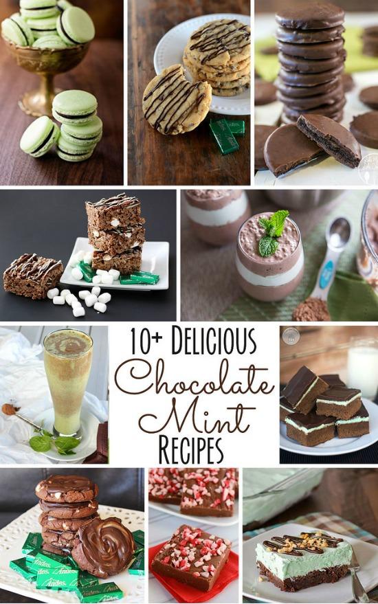 10+ Delicious Chocolate Mint Recipes #CelebratingFood2015
