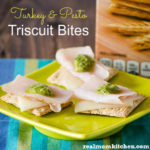 Turkey and Pesto Triscuit Bites | realmomkitchen.com