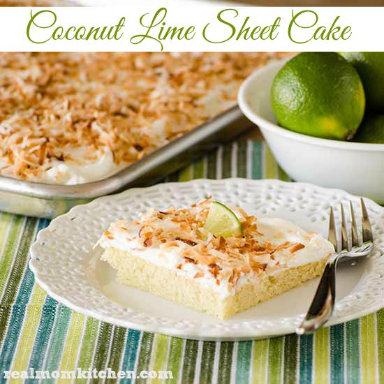 Coconut Lime Sheet Cake | realmomkitchen.com