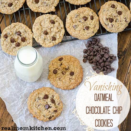 Vanishing Oatmeal Chocolate Chip Cookies And 17 Chocolate Chip