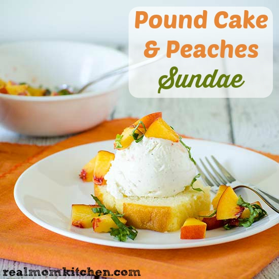 Pound Cake Peaches Sundae