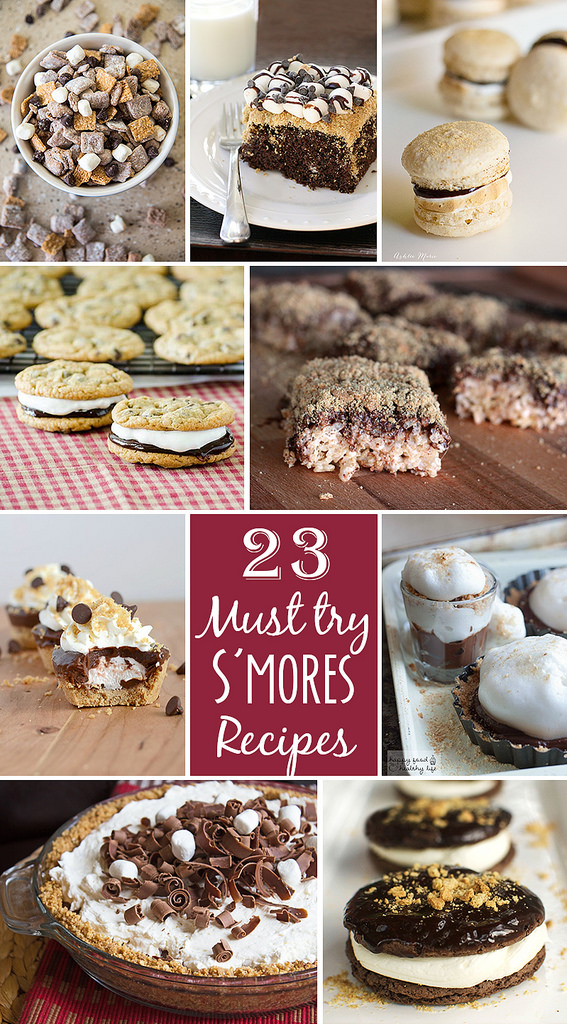 23 Must try s'mores recipes | realmomkithcen.com  #celebratingfood2015 #nationalsmoresday