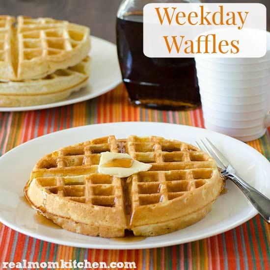 Weekday Waffles | realmomkitchen.com #NationalBreakfastMonth #CelebratingFood2015